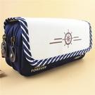 帆布多層大容量長鉛筆袋文具盒...