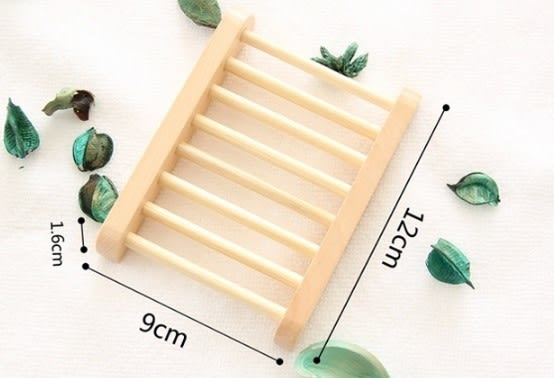 [協貿國際]  天然木質肥皂架簡約晾皂架皂盒 (6個價)