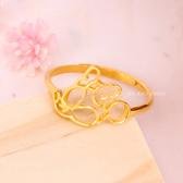 迪士尼系列金飾-黃金戒指-親親美妮