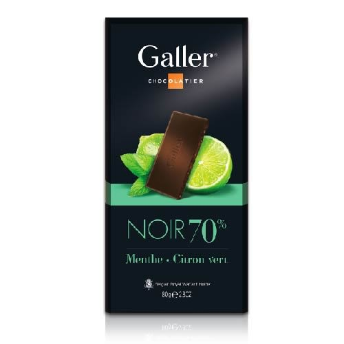 Galler伽樂70%萊姆薄荷醇黑巧克力80g