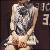 【INI】簡單生活、星芒氣質搭配棉麻披肩圍巾.七色