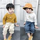男童長袖T恤春秋新款韓版寶寶圓領打底衫兒童洋氣上衣童裝