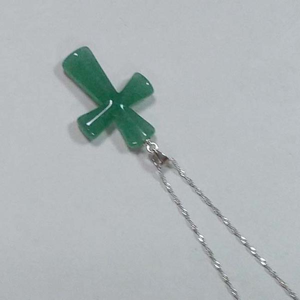 東菱玉復古十字架吊墜純銀項鍊