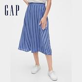 Gap女裝清爽條紋設計休閒長裙593894-深淺藍色條紋