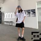 短褲女夏季韓版寬松百搭高腰直筒工裝休閒闊腿五分褲子【左岸男裝】