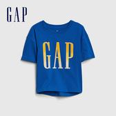 Gap 女童 Logo圓領短袖T恤 577861-藍色