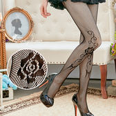 【唐朵拉】花朵性感小網格網襪性感魅惑超薄絲襪貼身褲襪透膚襪279