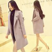 毛呢外套毛呢外套女中長款 韓版秋修身顯瘦羊毛呢子大衣加厚潮 愛麗絲精品
