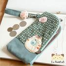 手機袋~雅瑪小舖日系貓咪包 啵啵貓愛吃魚手機袋/拼布包包