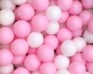 台灣製~球池球屋遊戲塑膠彩球~馬卡龍粉色彩球~兒童遊戲球池球~海洋球/波波球~幼之圓