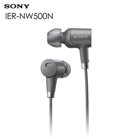 SONY IER-NW500N 入耳式耳機 與Walkman 數位隨身聽 A40 系列完美搭配