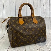 BRAND楓月 LOUIS VUITTON LV M41528 原花 SPEEDY25 波士頓包 手提包