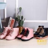 加絨棉雨鞋雨靴防水鞋膠鞋水靴女短筒防滑保暖冬平底【輕奢時代】
