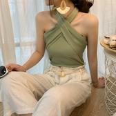 夏季新款純色性感短款露臍吊帶背心內搭針織打底衫修身上衣 美芭