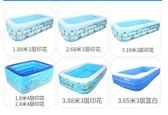 充氣泳池 超大號充氣游泳池家用水池  升級加厚3.18米68cm藍白基礎jy【快速出貨八折搶購】