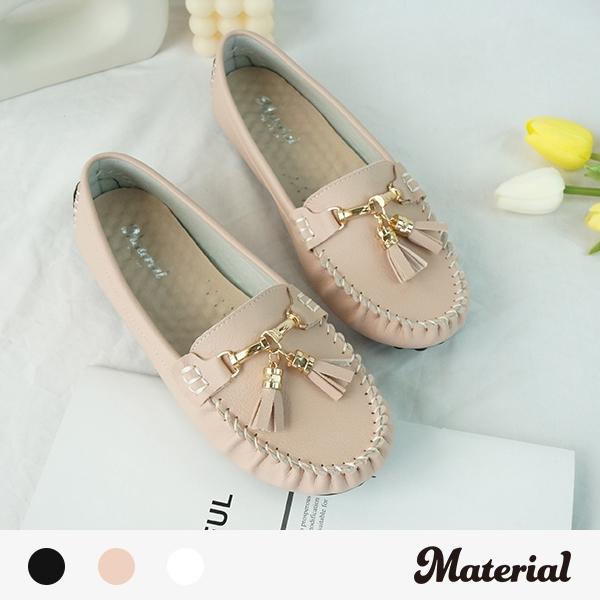 豆豆鞋 流蘇平底豆豆鞋 MA女鞋 T58827