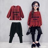 秋裝新款韓版中大童長袖秋季時髦兩件套潮衣    LY6392『愛尚生活館』