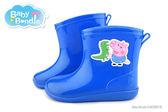 童鞋 / 卡通  / 兒童雨鞋  (粉紅豬小妹) 喬治豬 中童 短筒雨鞋-藍
