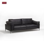 皮質沙發北歐簡約沙發三人位沙發乳膠沙發xw