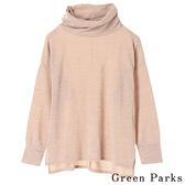 「Hot item」寬高領長版上衣 - Green Parks