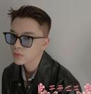 墨鏡韓國明星太陽鏡透明黃色鏡片方框復古街拍小紅書潮人墨鏡個性嘻哈 芊墨左岸