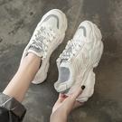 夏季鞋女新款網面運動單鞋百搭學生ins潮透氣厚底小白老爹鞋聖誕交換禮物