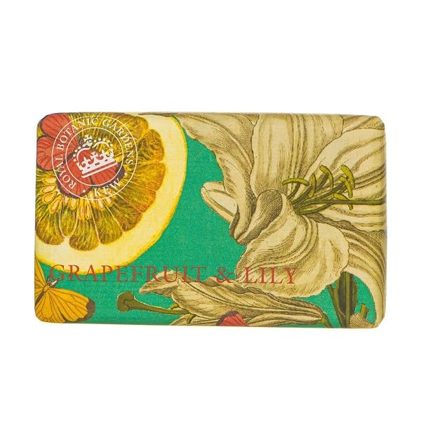 岡山戀香水~Kew Gardens 英國皇家植物園 乳木果油天然香皂 240g (葡萄柚百合) ~優惠價:299元