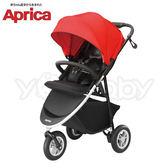 【限量↙下殺價】愛普力卡 Aprica SMOOOVE 挑高型座椅大三輪嬰幼兒手推車-紅樹林