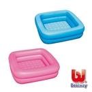 【南紡購物中心】《Bestway》寶寶方型充氣浴盆-藍、粉紅(隨機出貨)