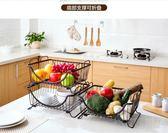 居家家金屬置物架廚房用品落地收納菜架放碗架瀝水架蔬菜架子碗igo『小淇嚴選』