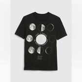 Gap男童棉質舒適圓領短袖T恤541073-溫和黑色