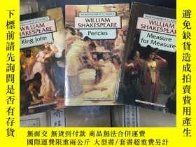 二手書博民逛書店《King罕見John》 《Pericles, Prince of Tyre》 《Measure for Meas