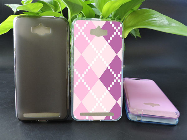 ♥ 俏魔女美人館 ♥ (紫色菱格*軟殼} ASUS ZenFone Max (ZC550KL) 手機殼 手機套 保護套 保護殼