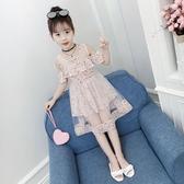 女童雪紡裙 女童夏裝洋裝2020新款韓版洋氣漏肩兒童裙子雪紡女孩