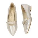 【ORiental TRaffic】優雅一字尖楦平底鞋-時髦銀
