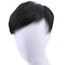 假髮片(真髮絲)-帥氣自然前額補髮男假髮...