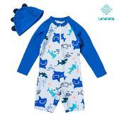 LAHAHANA 可愛鯊魚寶寶連身泳裝