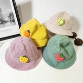 寶寶帽子秋冬款可愛超萌男女童1-3歲男童漁夫帽燈芯絨嬰 花樣年華