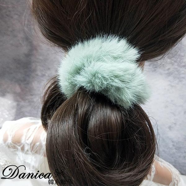 髮飾 現貨 韓國時尚女神魅力百搭手作甜美柔軟毛茸茸甜甜圈髮束 S8268 批發價 Danica 韓系飾品