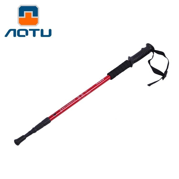 【狐狸跑跑】AOTU 凹凸 戶外3節伸縮登山杖 折疊超輕老人杖 手杖 拐杖 7553