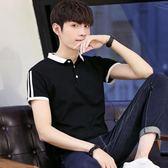 男短袖POLO衫 休閒男裝上衣 夏季新款短袖t恤男士翻領純棉修身體恤潮半袖衣服韓版男短csZ1970