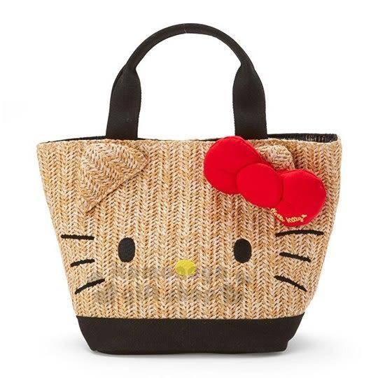小禮堂-Hello Kitty 藤編手提包
