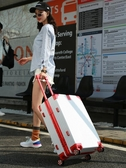 旅行箱行李箱萬向輪男女學生拉桿箱旅行箱密碼箱24寸登機箱LX春季新品