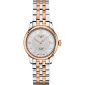 TISSOT天梭 Le Locle 力洛克羅馬機械女錶-銀x雙色/29mm T0062072203800