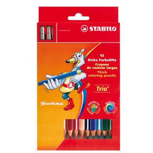 STABILO Trio thick 系列三角筆身色鉛筆12色*203/2-12