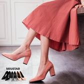 現貨-MIUSTAR 顯瘦細腿尖頭麂皮絨高跟鞋(共3色,36-39)【NE4291T1】