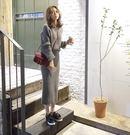 VK精品服飾 韓系開叉半身裙寬鬆套裝長袖...