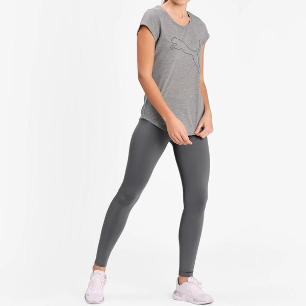 PUMA PERF Heather 女裝 短袖 休閒 訓練 健身 吸濕 排汗 麻花灰 歐規【運動世界】52032003