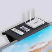 電視機頂盒置物架免打孔路由器收納盒子放壁掛墻上面無線光貓支架