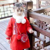 女童拜年服 女童冬季中國風長袖旗袍洋裝洋氣寶寶加厚唐裝兒童棉衣潮 ZJ4674【潘小丫女鞋】